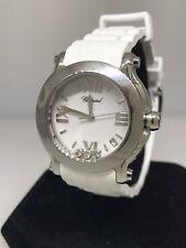Chopard Happy Sport 36mm Stainless Steel Diamond Ladies Watch 27/8475-3016 New