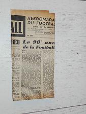 FRANCE FOOTBALL OFFICIEL HEBDOMADAIRE FFF N°397 27/10 1953