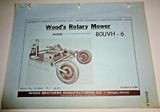 Woods 80uvh 6 Rotary Mower Cutter Operators Owners Parts Manual Catalog 5 61