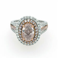 Big Engagement Ring 2.50ct Argyle 6pp Natural Very Light Pink Fancy GIA Oval