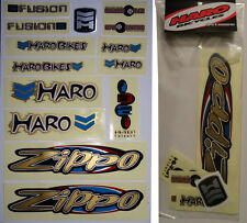 HARO ZIPPO BMX Sticker Set - '90s Old School Freestyle BMX Decal Set - NOS