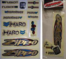 HARO ZIPPO BMX Sticker Set - '90s Old School Freestyle BMX Decal Set - NOS
