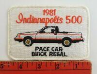 Vintage 1981 Indianapolis Indy 500 Race Buick Regal Pace Car Patch
