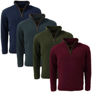 Game Mens Stanton Country Fleece Pullover    Zip Neck Jumper Top
