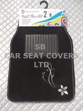 I - passend für Mitsubishi Space Wagon, 2-tlg vorne Matten, silberne Blume