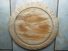 A Good Carved Wooden Wood Bread Board Vintage Kitchenalia - Our Daily Bread