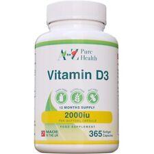 A to Z Puro Salud-La vitamina D3 2,000iu X 365 cápsulas blandas