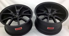 """17"""" Matte Black Mustang FR500 Style Wheels Staggered 17x9 17x10.5 5x114.3 94-04"""