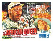 The African Queen Lobby Card Poster Bq 1951 Humphrey Bogart Katharine Hepburn
