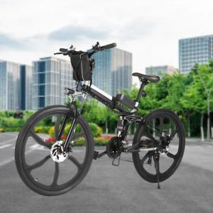 WINICE Klappbares Elektrofahrrad,Mountainbike 26'' 350W Elektrisches Fahrrad DE