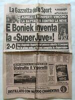 GAZZETTA DELLO SPORT 17 GENNAIO 1985 JUVENTUS VINCE SUPERCOPPA EUROPEA PLATINI