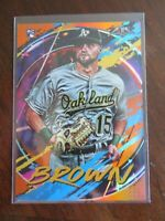 2020 Topps Fire Seth Brown RC Oakland Athletics Orange Foil /299 MLB Baseball