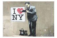BANKSY NEW YORK DOCTOR GRAFFITI CANVAS STREET ART PRINT