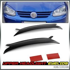 For VW Golf GTI Jetta R32 Rabbit Mk5 Look Upper Headlight Cover Eyelids 06-09