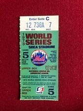 1973, New York Mets, World Series Ticket Stub (Shea Stadium) Scarce / Vintage