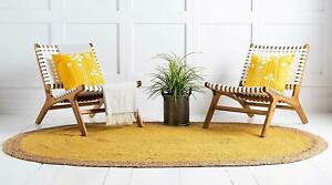 Indian Vintage Jute 100%Natural style Hand Braided Bohemian home décor Jute Rugs