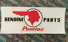 Vintage PONTIAC GENUINE PARTS Water Decal old Indian head logo classic hot rod