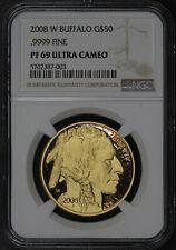 2008-W $50 American Gold Buffalo NGC PF-69 Ultra Cameo