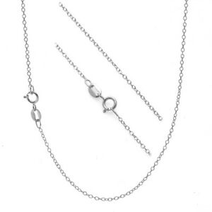 """.925 Sterling Silver 1mm Thin Cable Chain Necklace - 14"""" 16"""" 18"""" 20"""" 22"""" 24"""" 30"""""""