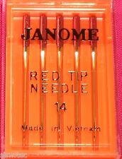rot Spitze Janome Nähmaschine Nadeln Größe 14/90