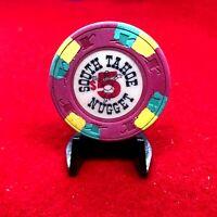 "$5""SOUTH TAHOE NUGGET""GOOD,CR#N5576 CODE""L""$75-99,W/JUMPING COWBOY,CAP"