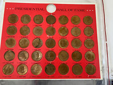 Presidential Hall of Fame Brass Coin Set 1968 Franklin United States Presidents