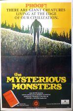 The misterious monster original poster,1975,Robert Guenette