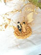 Vintage 1935 Bride & Groom Wedding Cake Topper - something old