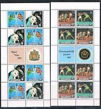 Solomon Is 1982 Royal Visit & Games Sheets (2) SG 471/4 MNH