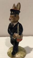 "Vtg Royal Doulton Figurine Bunnykins postman mailman Db78 1989 4 3/8"""