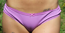 M & S Size 10 Brazilian knickers panties briefs cotton rich heather Pink