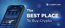Crypto. COM Wallet cambio senza soldi BONUS £ 50 investire guadagnare CODICE Bitcoin Crypto