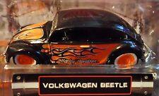 MAISTO VW VOLKSWAGEN BEETLE BUG HARLEY DAVIDSON MOTORCYCLES H-D CUSTOM CAR FLAME