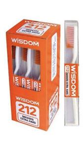 12PCS Wisdom 212 Smokers Extra Hard Brown Bristle Tooth Brush.