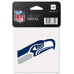 "Seattle Seahawks 4"" x 4"" Team Logo Truck Car Window Die Cut Decal New Color"