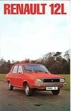 Renault 12 L Saloon 1976-77 Original UK Market Brochure