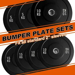 """2"""" Olympic Rubber Coated Cast Iron Weight Plates Home Gym Barbell Disc"""