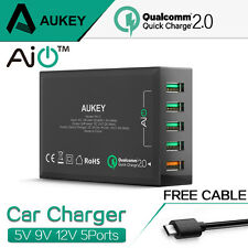 Aukey 5x USB Wall Charger QC2.0 Mini Universal Multi-Port Fast Charger Station