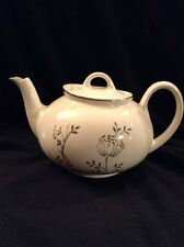 Antique Dalton Pearl China Co. 22 KT hand decorated Cream Platinum 4 cup teapot