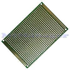 Foré Double Sided Copper Prototype PCB matrice Epoxy Fibre de Verre Planche 70x90mm