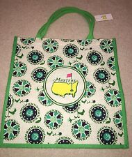 2018 MASTERS LARGE GREEN JUTE BAG NWT - From Augusta - Flag - Authentic!