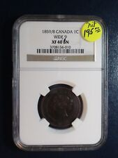 1859/8 Canada LARGE CENT NGC XF40 BN WIDE 9 1C Coin PRICED TO SELL NOW!