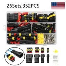 26 Sets Car Wire Connectors Plug 1 4 Pin 352pcs Waterproof Electrical Plugs Kit
