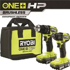 NEW RYOBI ONE+ HP 18V Brushless Cordless Compact 1/2 in. Drill and Impact Driver