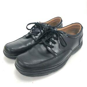 Clarks Felixi Light Shoes Mens UK 9 Black Leather Lace Up Formal Work 291239