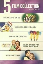 5 DVD Set Musicals Wizard of Oz Yankee DOODLE Dandy Singin' in The Rain More
