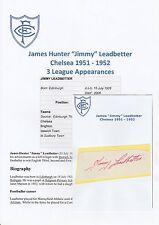 Jimmy Leadbetter Chelsea 1951-1952 Rara Original Firmada A Mano cutting/card