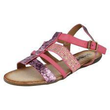 Sandali e scarpe rosse gladiatori Piatto (Meno di 1,3 cm) per il mare da donna