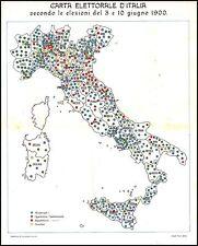 CARTA ELEZIONI D'ITALIA GIUGNO 1900 POLITICA REPUBBLICANI SOCIALISTI RADICALI