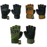 Rapid Dom Half Finger Gloves Tactical Hard Knuckle Combat Patrol MOUT